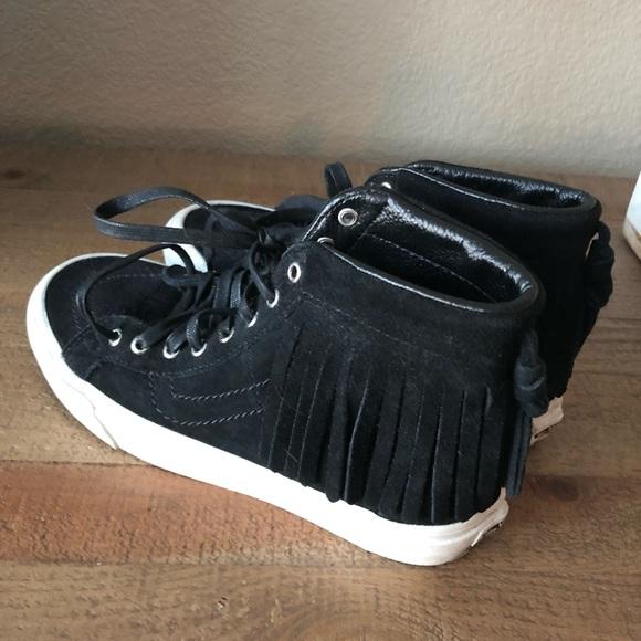 Vans Shoes - Vans SK8 Hi Moc fringe 5.5M or 7.0W 9fc519783